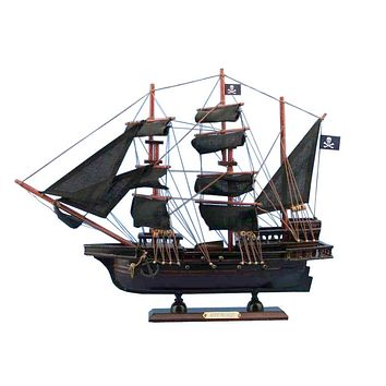 Wooden Captain Kidd's Adventure Galley Model Pirate Ship 20""