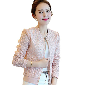 Lace Jacket women 2017 Spring Summer New Brand Full Lace coat Outwear Leisure Casual Jacket High Quality Jacket chaquetas mujer
