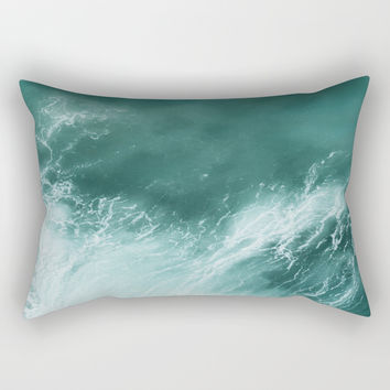 Ocean Roar Rectangular Pillow by nauticaldecor