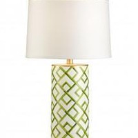 Bamboo Squares Lamp | Green