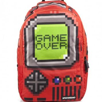 Pixel Game Over Backpack (Red) | Sprayground Backpacks, Bags, and Accessories