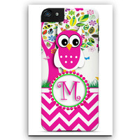 Personalized Cell Phone Case. Floral Owl Tree.  I Phone 4, I Phone 5, I Phone 5C, I Phone 6, Galaxy 3, Galaxy 4, Galaxy 5