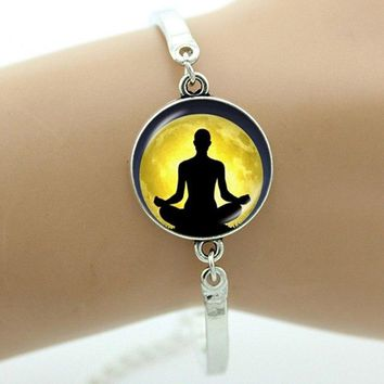 Fashion Buddhism Mandala charm eye jewelry Buddhist Yoga Meditation Bracelet men women Hinduism Jewellery Lord Shiva B419