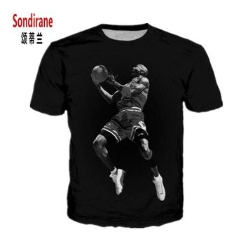 Sondirane New Fashion Womens/Men Jordan No. 23 Jersey Funny 3D Print Casual T Shirt Su
