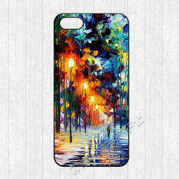 Painting iPhone 5 Case,water color paint winter tree Image printing iPhone 5 5s Case,watercolor Hard cover skin for iphone 5/5s cases,More