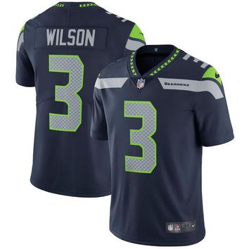 Men's Seattle Seahawks Russell Wilson Nike College Navy Vapor Untouchable Limited Player Jersey