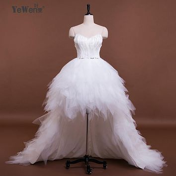 Ivory Sweetheart Ruffled Bling Sequins Feather Organza Short Front Long Back Prom Dresses 2017 emerald green cocktail dresses