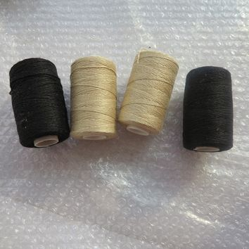 12pcs/box black brown blonde color cotton weaving thread hair weaving sewing thread for hair extension