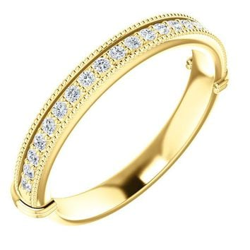 14k Yellow Gold Band For 5.2mm Round Ring