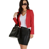 Fiery Hot Crop Blazer
