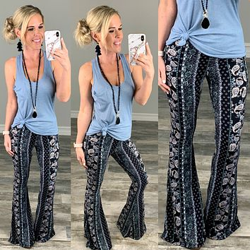 Perfectly Paired Palazzo Flare Pants - Blue