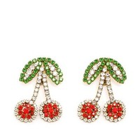 SHOUROUK | Crystal Cherry Earrings | Browns fashion & designer clothes & clothing