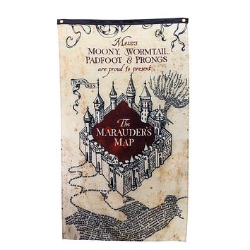Harry Potter Marauders Map Wall Banner