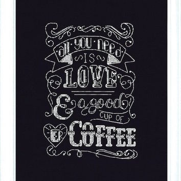 Design Works Love Chalkboard - Counted Cross Stitch Kit - TheAngelsNook.com