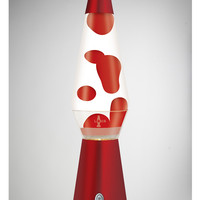 Lava Lamp with Red Lava, Clear Liquid, and Red Base