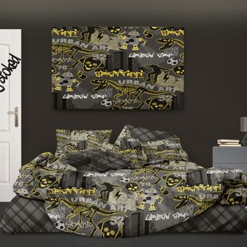Urban Graffiti Skateboard Comforter from Extremely Stoked Skateboard Bedding