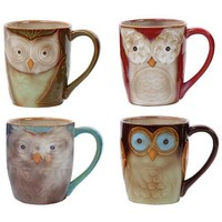 Gibson Home Night Owls 4-Piece Mug Set - Walmart.com
