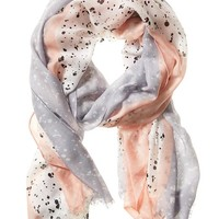 Banana Republic Factory Ink Spot Scarf Size One Size - Black print