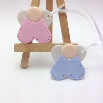 Baptism Favors, Guardian Angel Favors, Christening Decoration, Communion Favours, Baby Boy Baptism, Baby Girl Baptism, Angel Clay Tags