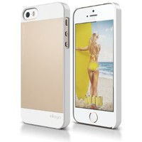 iPhone SE case, elago® [Outift][White / Champagne Gold] - [Premium Hybrid Construction][Aluminum][Spark Design Award] - for iPhone SE/5/5S