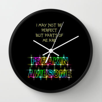 Freakin Awesome Wall Clock by Alice Gosling