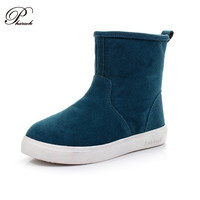 2015 fahshion Genuine Leather winter women ankle boots shoes Candy colors 35-43