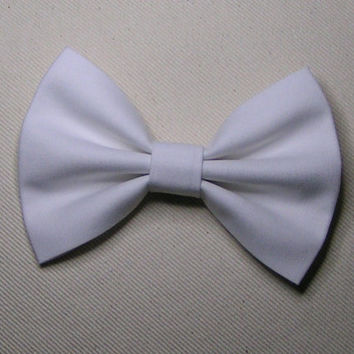 White hair bow , Hair Bows for kids and teens, hair bows for women, small hair bows, Bow Bows, hair bows for teens