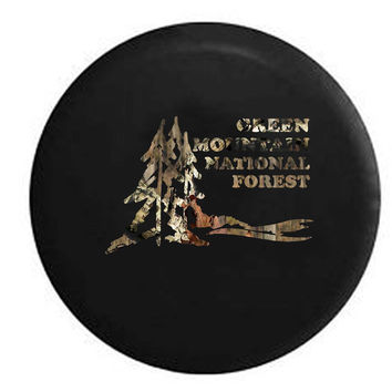 Green Mountain National Forest Park Travel RV Camper Jeep Spare Tire Cover