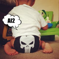 Punisher All In Two (AI2) Cloth Diaper - One-Size or Newborn, S, M, L