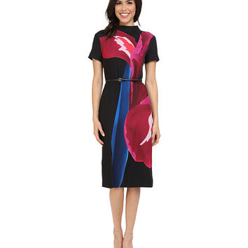 Ted Baker Sianne Stencilled Stems Midi Dress