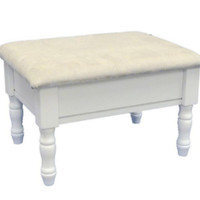 High Quality Footstool with Storage Compartment Living Room Furniture White
