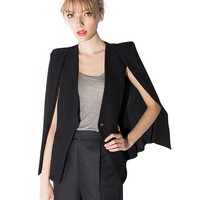 Long Sleeve Cutout Blazer