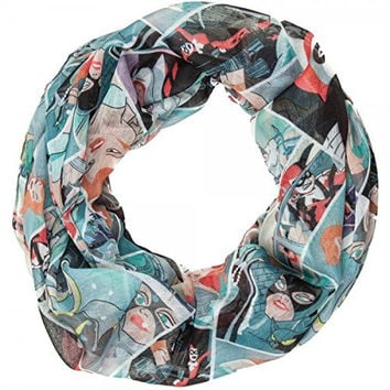 Batman The Animated Series: Harley Quinn, Joker, Poison Ivy & Catwoman Infinity Viscose Scarf