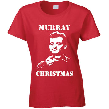 Youth Billy Murray Stripes Funny Murray Christmas T-Shirt