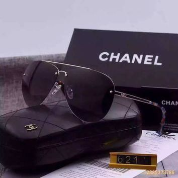 Original Chanel Pilot Fall Sunglasses Frameless 621110 - 03