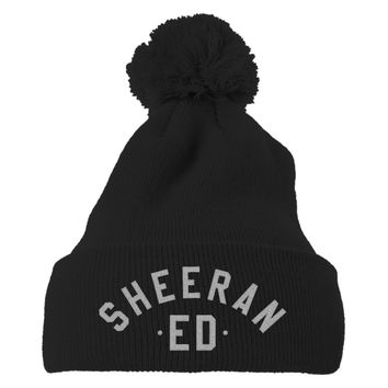 Ed Sheeran The A Team Embroidered Knit Pom Cap