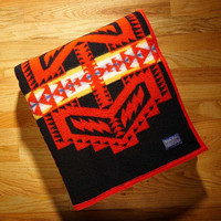 Pendleton ® Wool Blankets, Arapaho Trail Indian Blanket, Black