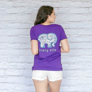 Perfect Fit Passion Purple Paisley Garden Tee