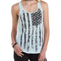 Sleeveless American Flag Tank Top by Charlotte Russe