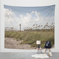 Lighthouse Beach Wall Tapestry