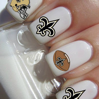 New Orleans Saints NFL Football nail decals tattoos nail art