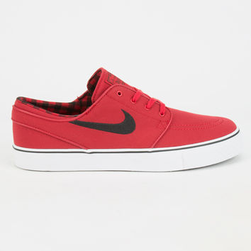 Nike Sb Zoom Stefan Janoski Canvas Mens Shoes Red  In Sizes