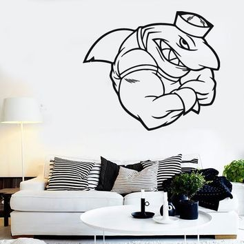 Wall Stickers Vinyl Decal Shark Sailor Cool Bathroom Decor (ig792)