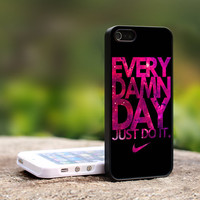 Nike Every Damn Day Just Do it nebula iPhone 5 Case, iPhone 4 Case, iPhone 4s Case, iPhone 4 Cover, Hard iPhone 4 Case