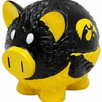 Forever Collectibles CSY-8686707161 Iowa Hawkeyes NCAA Team Thematic Piggy Bank - Small