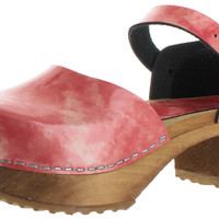 Sanita Wood Ciel Women's Wooden Mary Jane Clogs Shoes Sandals