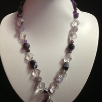 Crystal & Amethyst Pendant Necklace