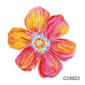 1pc tattoo stickers flowers water color small picture 6*6cm personalized flowers men and women tattoo stickers