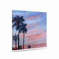 "Rosie Brown ""Florida Sunset"" Pink Blue Canvas Art"