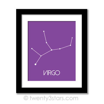 Virgo Constellation Stars Wall Art - Choose Any Colors